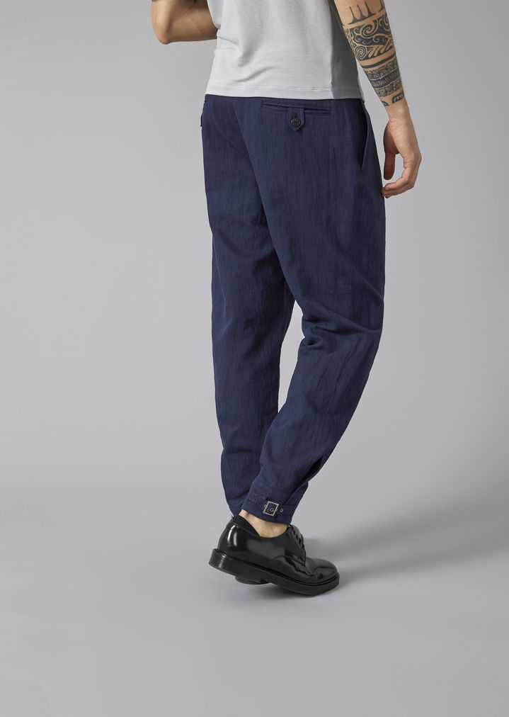 pleated checked trousers - Blue Emporio Armani 6H4DtYn332