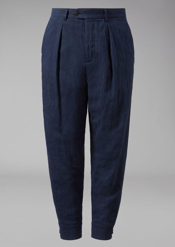 Pantalon Détail - Plissés Giorgio Armani Noir 9n695K1C