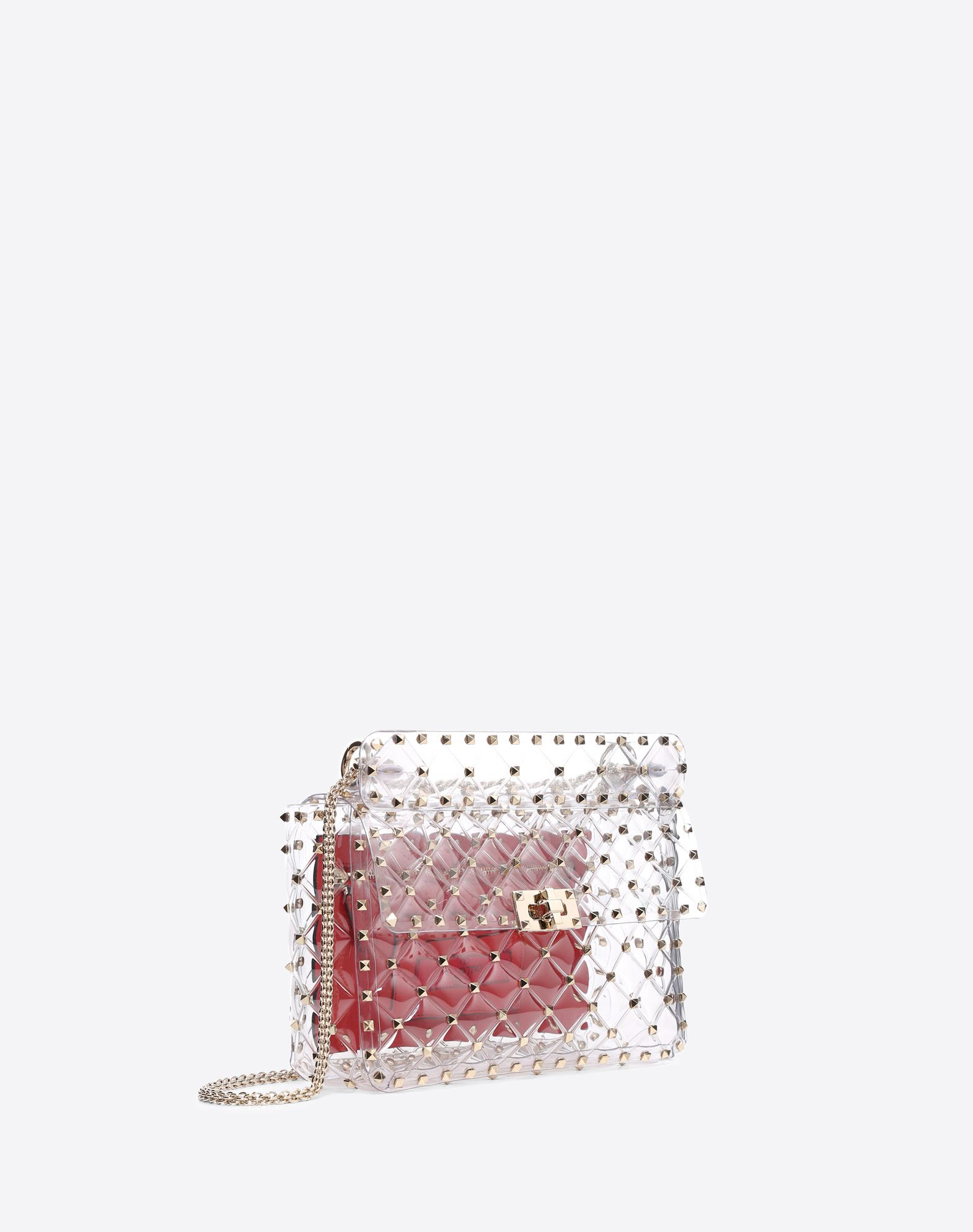 VALENTINO GARAVANI Rockstud Spike Medium Chain Bag Shoulder bag D r