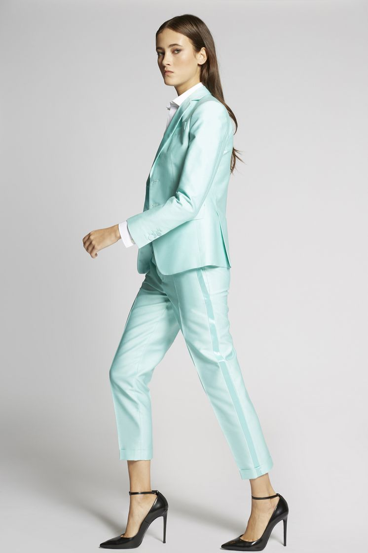 DSQUARED2 Silk Cotton Tux Hockney Pants Pants Woman