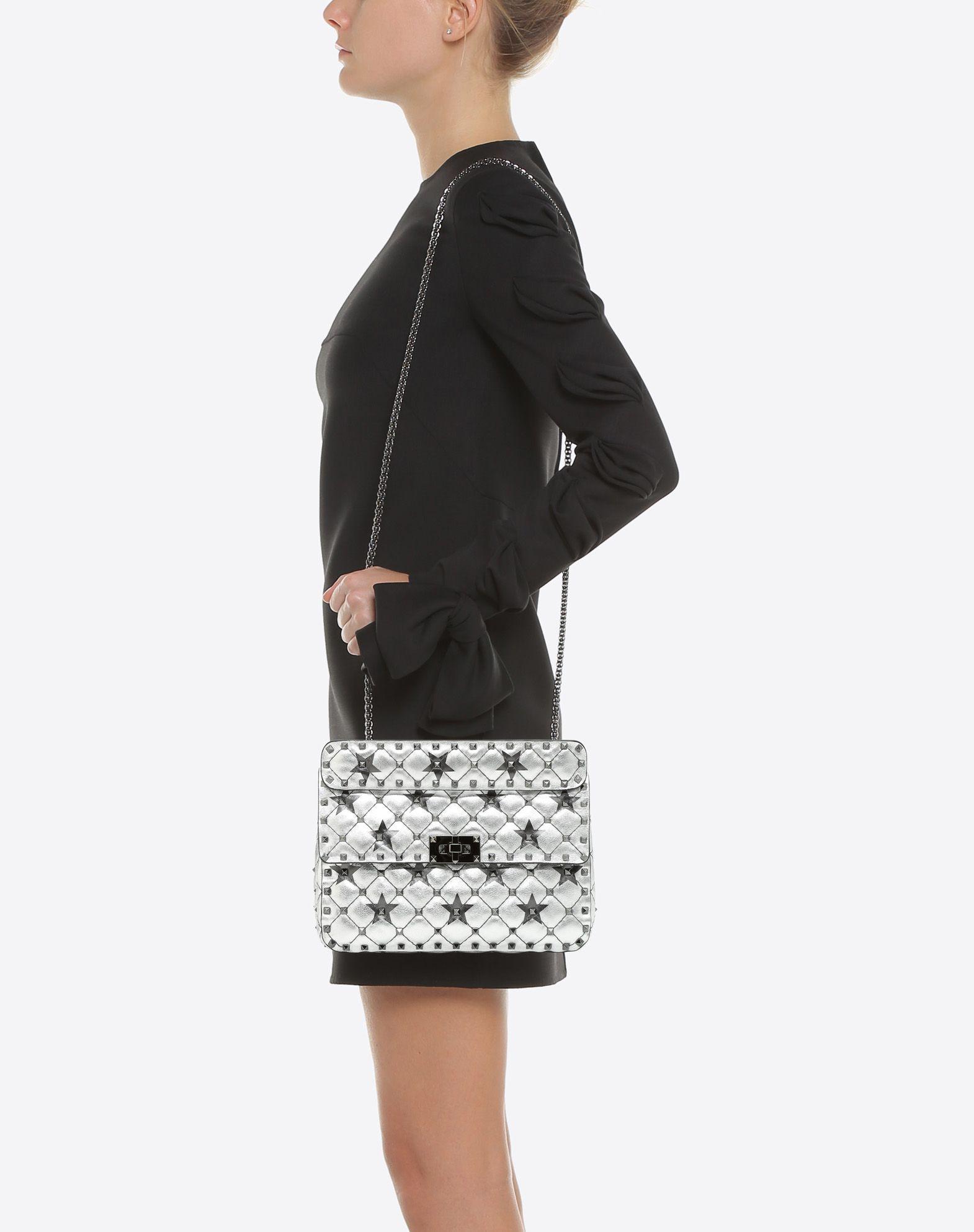 VALENTINO GARAVANI Rockstud Spike.It Medium Chain Bag Shoulder bag D a