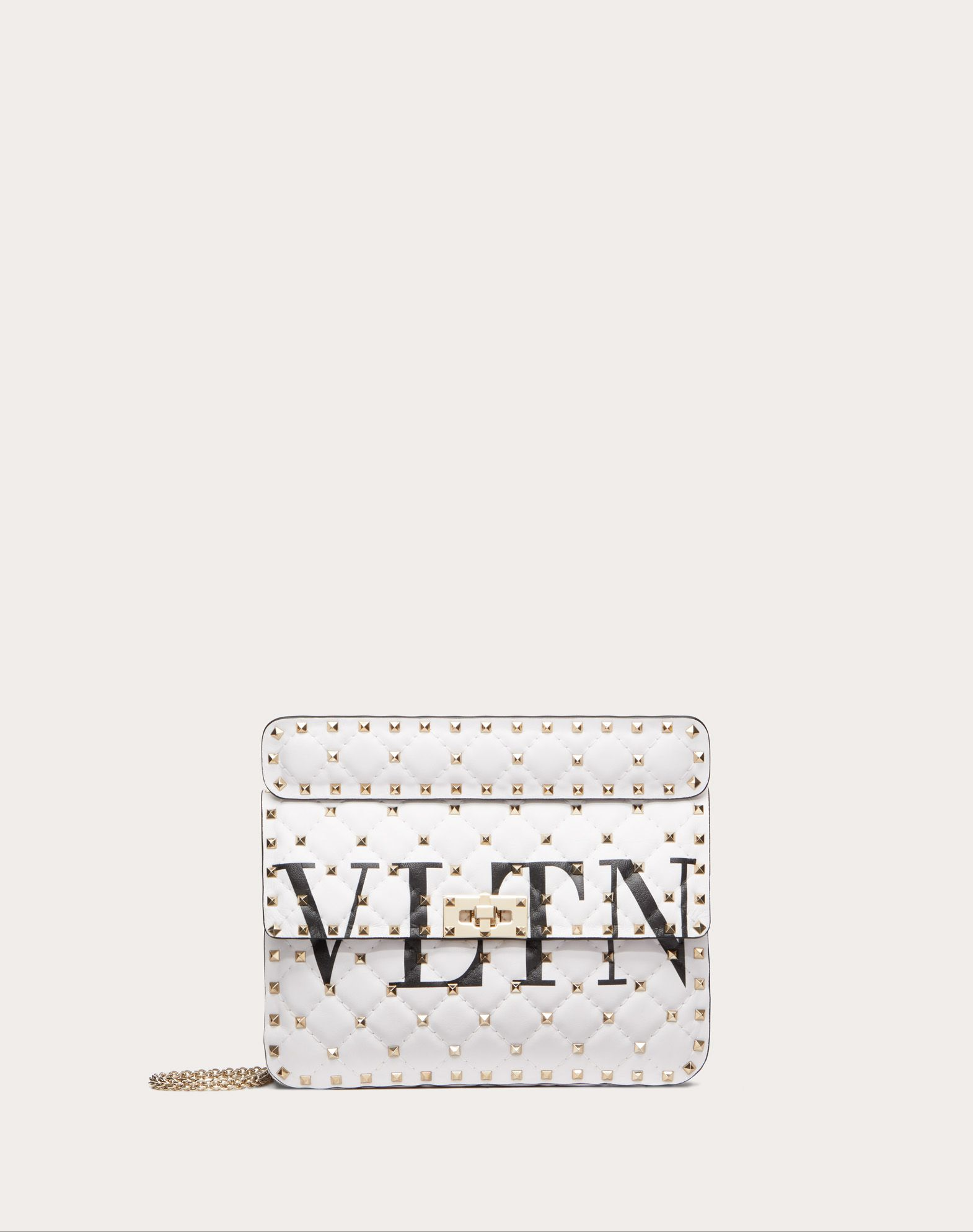 VALENTINO Logo Metal Applications Solid colour Framed closure Fully lined Removable shoulder strap  13163504tm