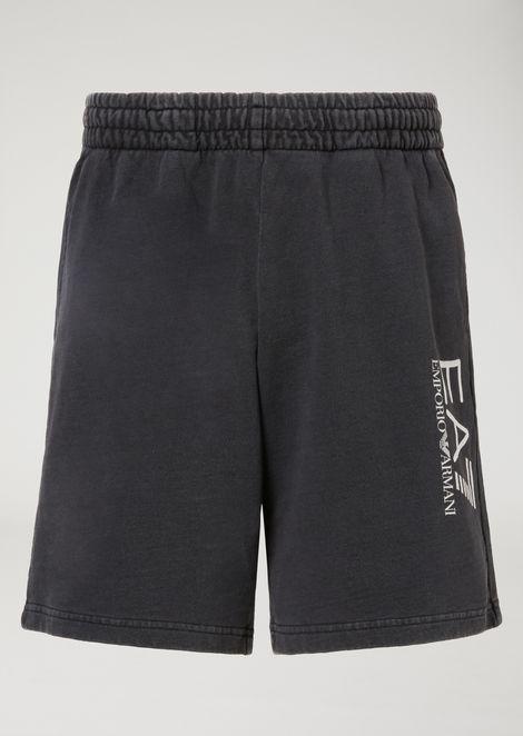 Washed cotton Bermuda shorts