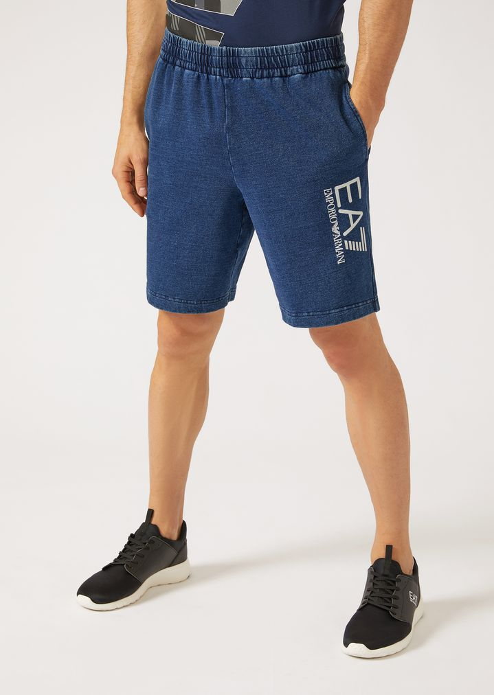 5f91f373655 Washed cotton Bermuda shorts