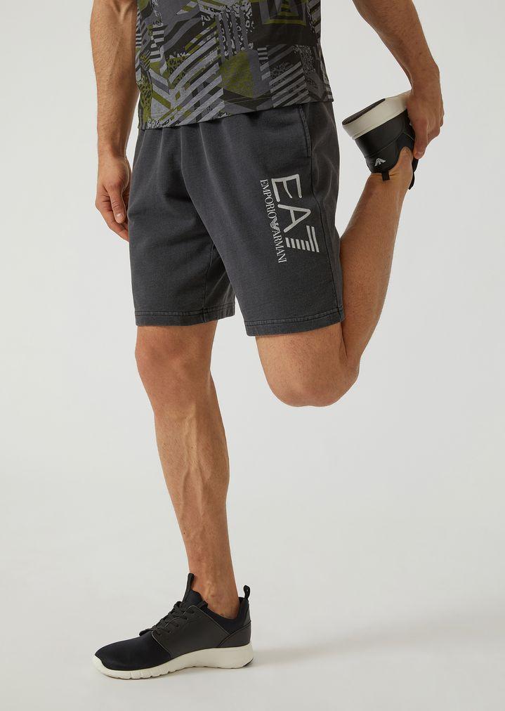 a25672150e Washed cotton Bermuda shorts | Man | Ea7