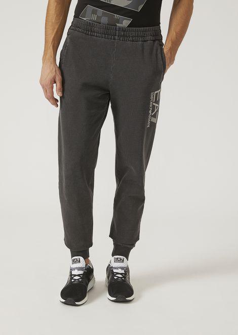 Pantaloni jogging in cotone lavato