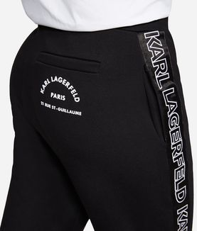 KARL LAGERFELD JERSEY LOGO TRACK PANT