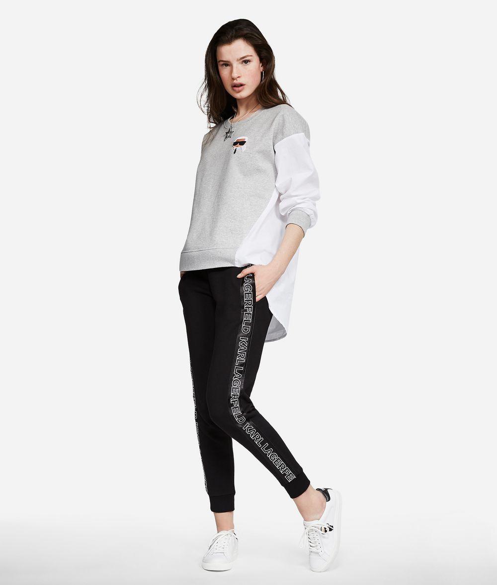 KARL LAGERFELD Sporthose aus Jersey mit Logo Hose Damen d