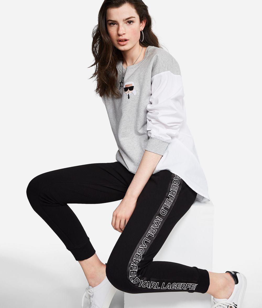 KARL LAGERFELD Sporthose aus Jersey mit Logo Hose Damen f