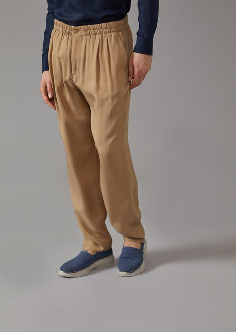 Washed natté trousers with darts