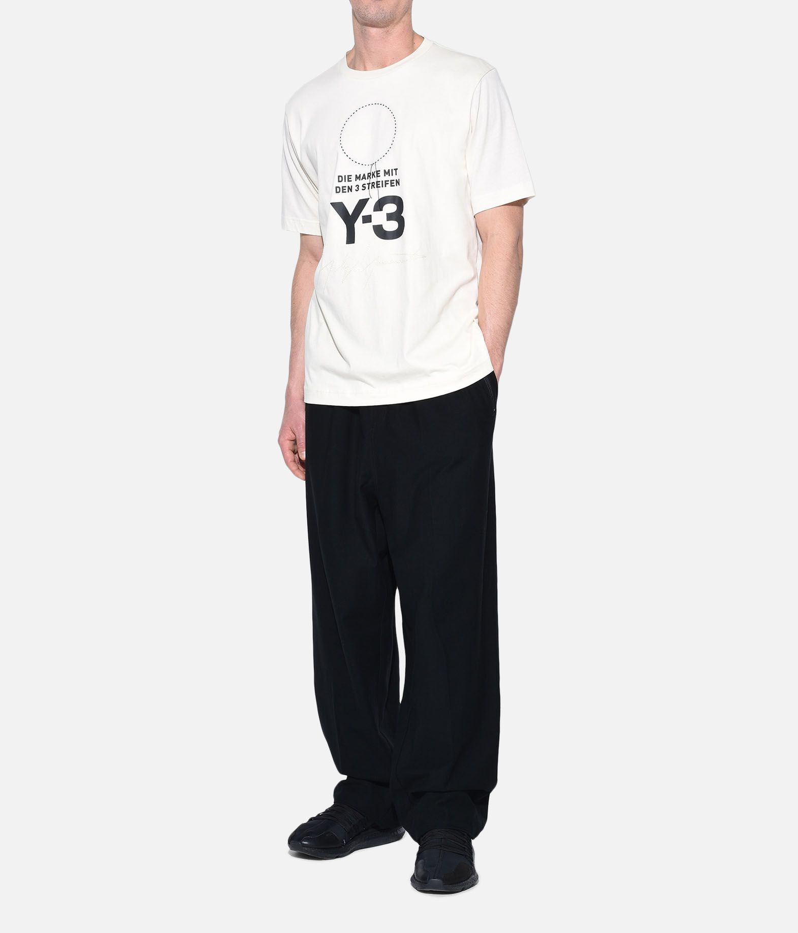 Y-3 Y-3 Twill Wide Pants Casual trouser Man a
