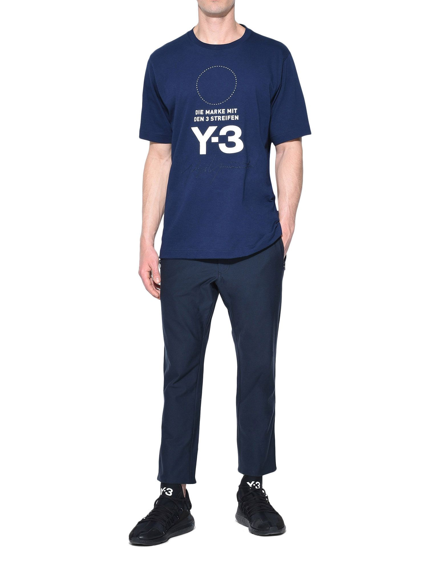Y-3 Y-3 Twill Cropped Pants dreiviertellange Hose Herren a