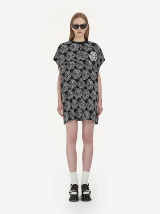 "T-Shirt-Kleid mit ""McQ Cube""-Allover-Print"