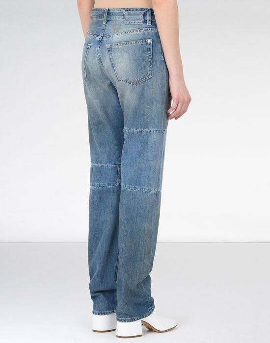 MM6 MAISON MARGIELA Vintage wash patchwork jeans Jeans Woman d