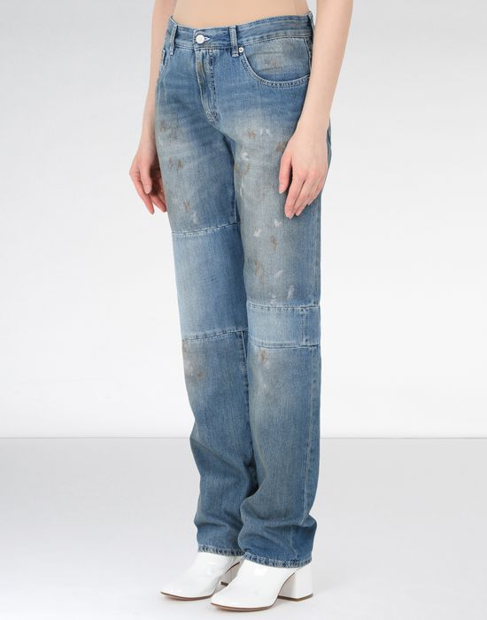 MM6 MAISON MARGIELA Vintage wash patchwork jeans Jeans Woman f