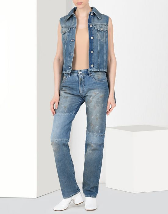 MM6 MAISON MARGIELA Vintage wash patchwork jeans Jeans Woman r