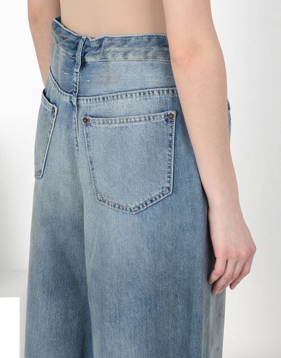 MM6 MAISON MARGIELA Oversized drawstring jeans Jeans [*** pickupInStoreShipping_info ***] a