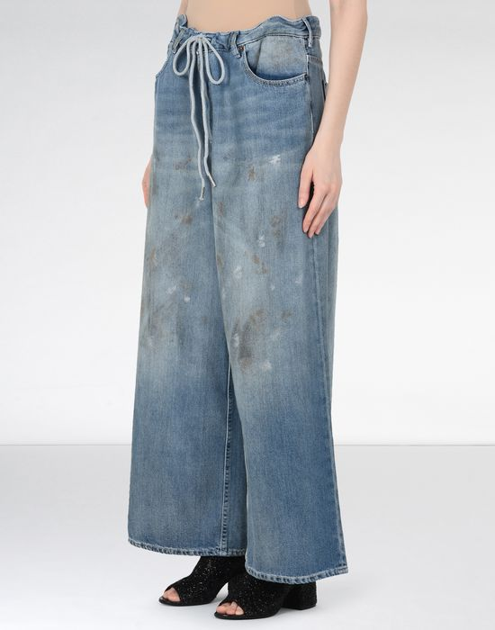 MM6 MAISON MARGIELA Oversized drawstring jeans Jeans [*** pickupInStoreShipping_info ***] f