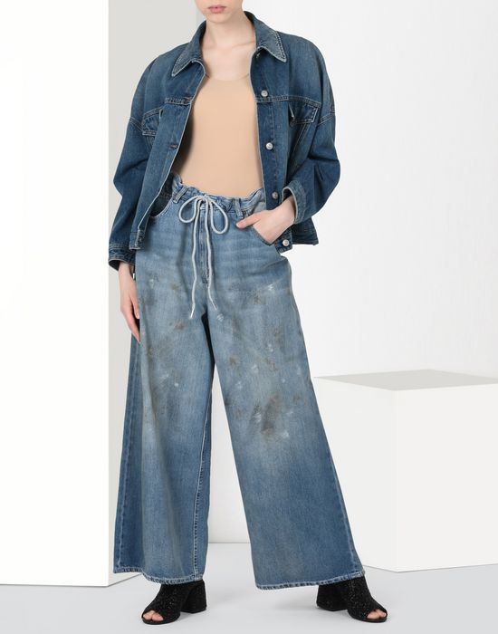 MM6 MAISON MARGIELA Oversized drawstring jeans Jeans [*** pickupInStoreShipping_info ***] r