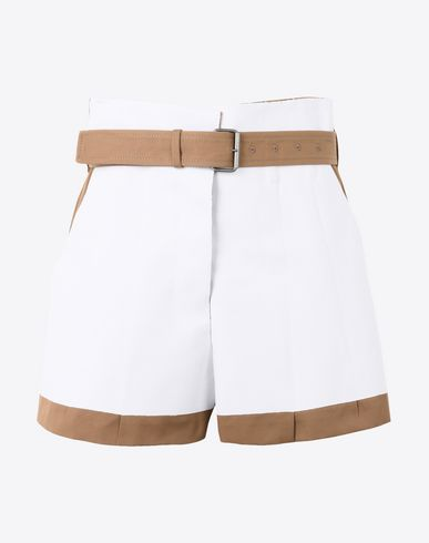 MAISON MARGIELA Shorts Woman Bonded cotton shorts with cut-out detail f