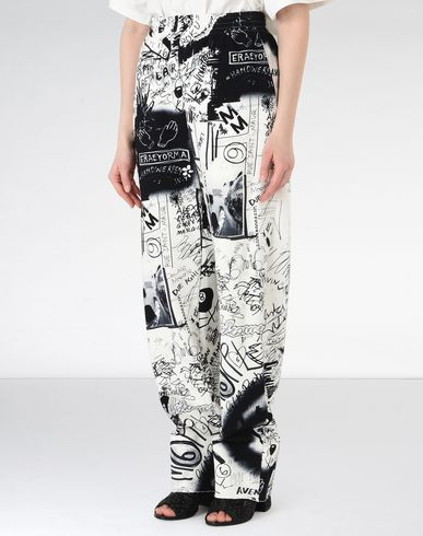 MM6 MAISON MARGIELA Casual pants Woman Graffiti print sweat pants f