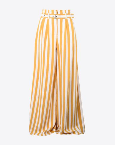 MAISON MARGIELA Trousers Woman Oversized stripe virgin wool trousers f