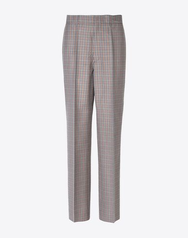MAISON MARGIELA Trousers Woman Check wool blend trousers f