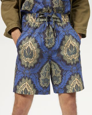 ISABEL MARANT SHORTS Man IBOH printed shorts r