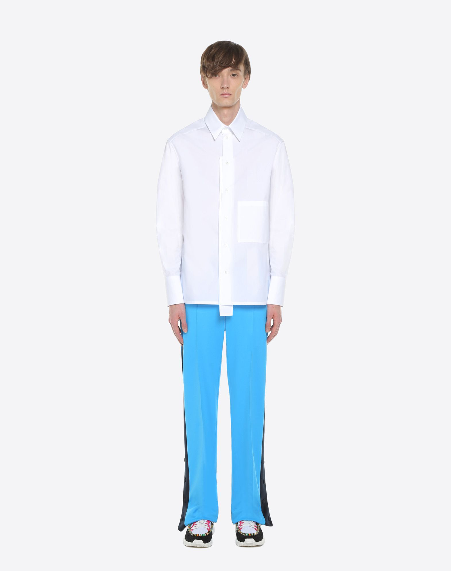 VALENTINO UOMO Trousers with contrasting bands Trousers U r