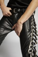 DSQUARED2 Leather Buckle Pants Trousers Man