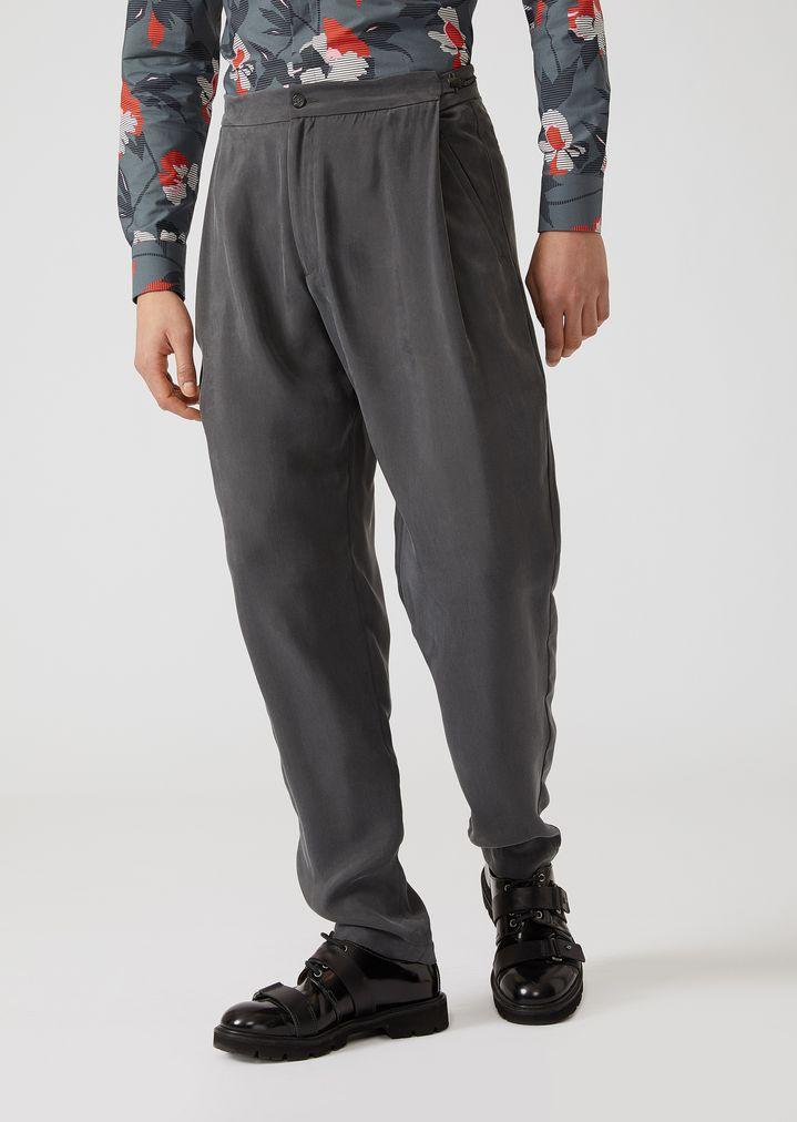 separation shoes 5a4ae d1521 Pantaloni in cupro con pinces | Uomo | Emporio Armani