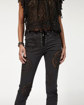 ISABEL MARANT JEANS Woman RUPER embroidered pants r