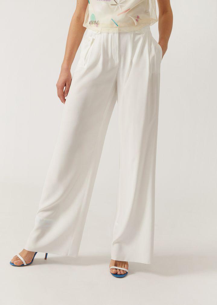 8db6c22f21f Silk palazzo trousers