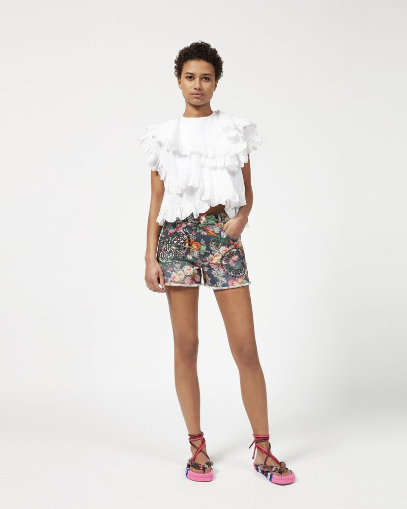 REWYN printed and embroidered shorts  ISABEL MARANT