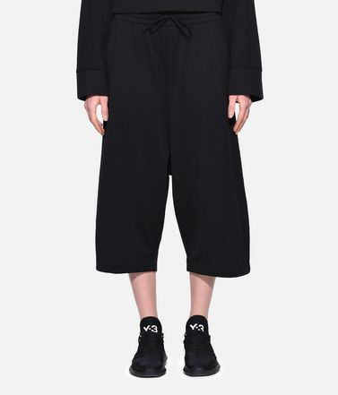 Y-3 Cropped pant Woman Y-3 Wide Cropped Pants r