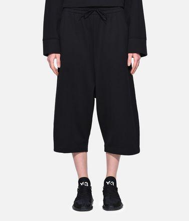Y-3 Pantalone Capri Donna Y-3 Wide Cropped Pants r