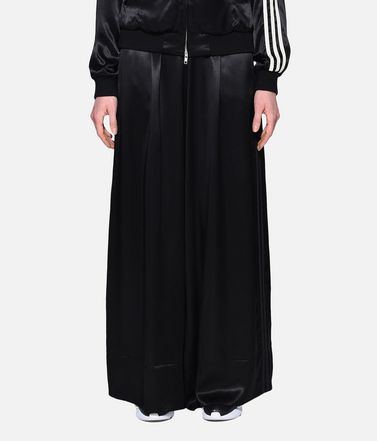 Y-3 パンツ レディース Y-3 3-Stripes Lux Wide Track Pants r