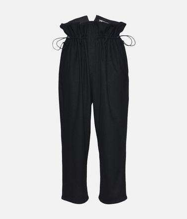 Y-3 High Waist Wool Pants