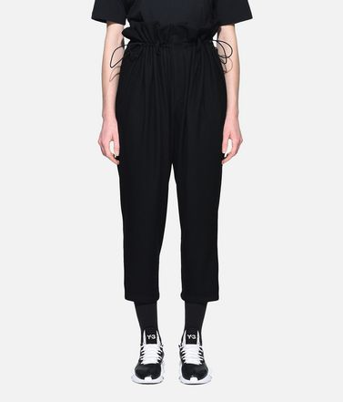 Y-3 Casual pants Woman Y-3 High Waist Wool Pants r