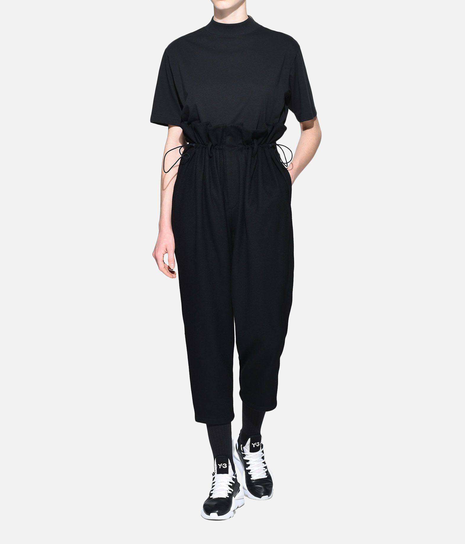 Y-3 Y-3 High Waist Wool Pants Casual trouser Woman a