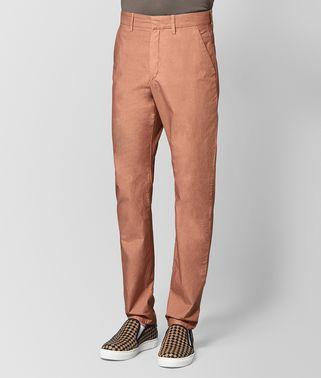 天竺牡丹粉棉质长裤