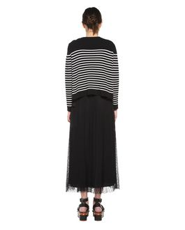 REDValentino Gonna in Tulle Point d'esprit