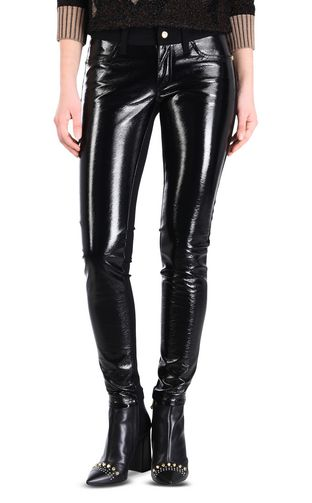 Women's semi-sheen trousers