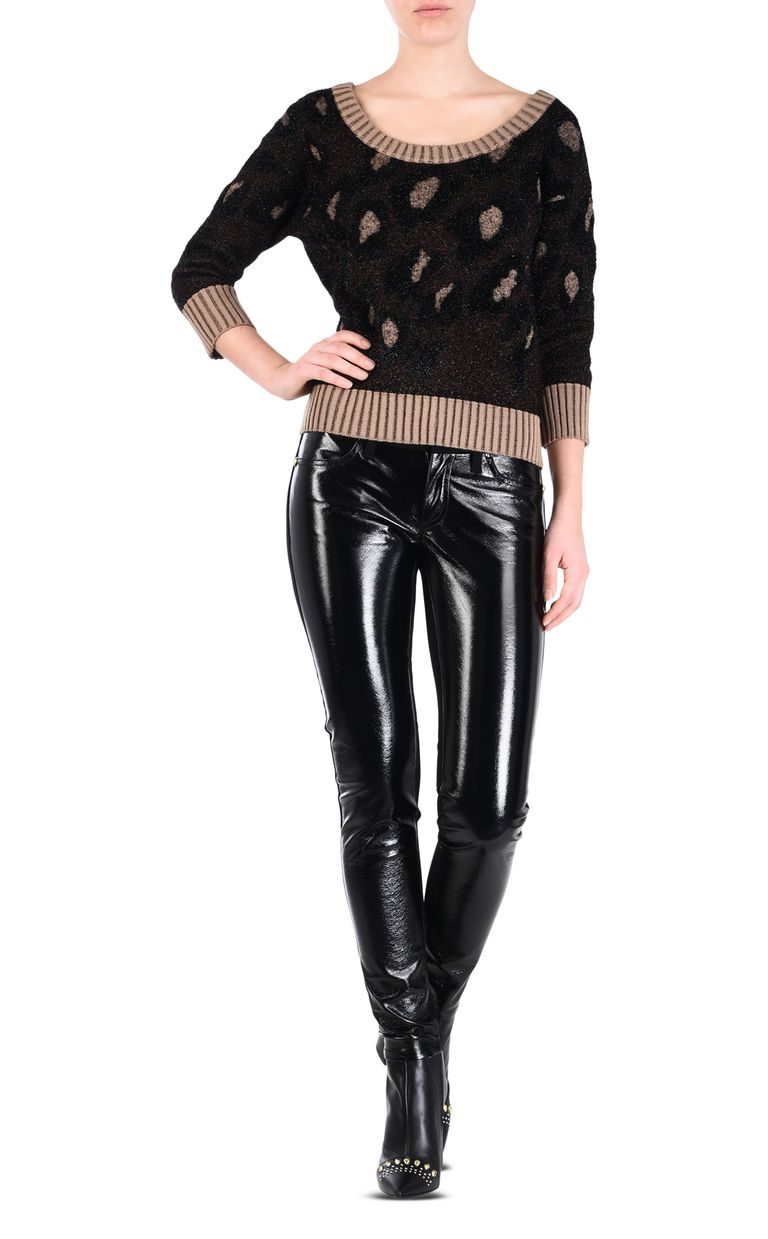 JUST CAVALLI Women's semi-sheen trousers Casual pants [*** pickupInStoreShipping_info ***] r