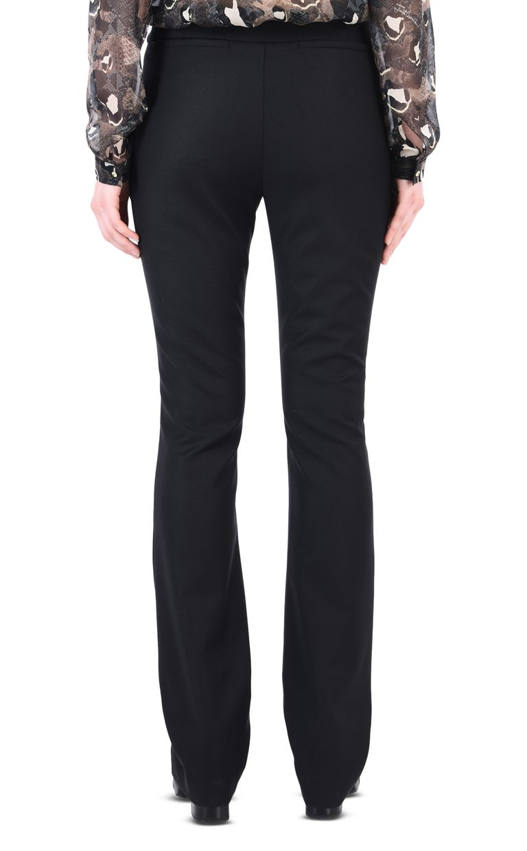 JUST CAVALLI Black flared trousers Casual pants [*** pickupInStoreShipping_info ***] d