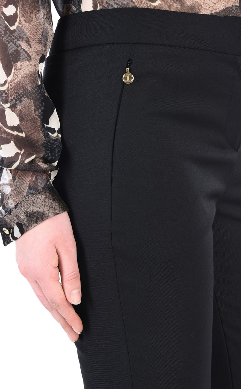 JUST CAVALLI Black flared trousers Casual pants [*** pickupInStoreShipping_info ***] e