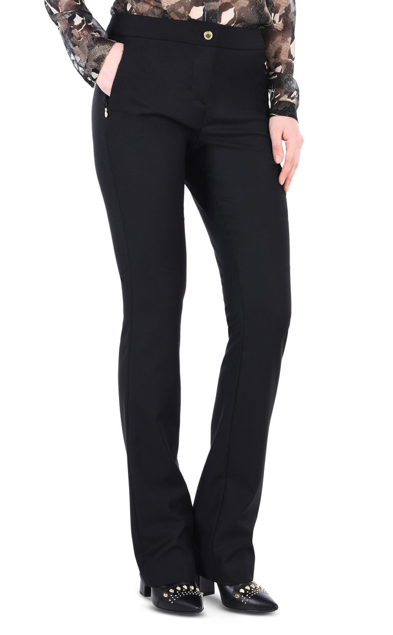 JUST CAVALLI Black flared trousers Casual pants [*** pickupInStoreShipping_info ***] f