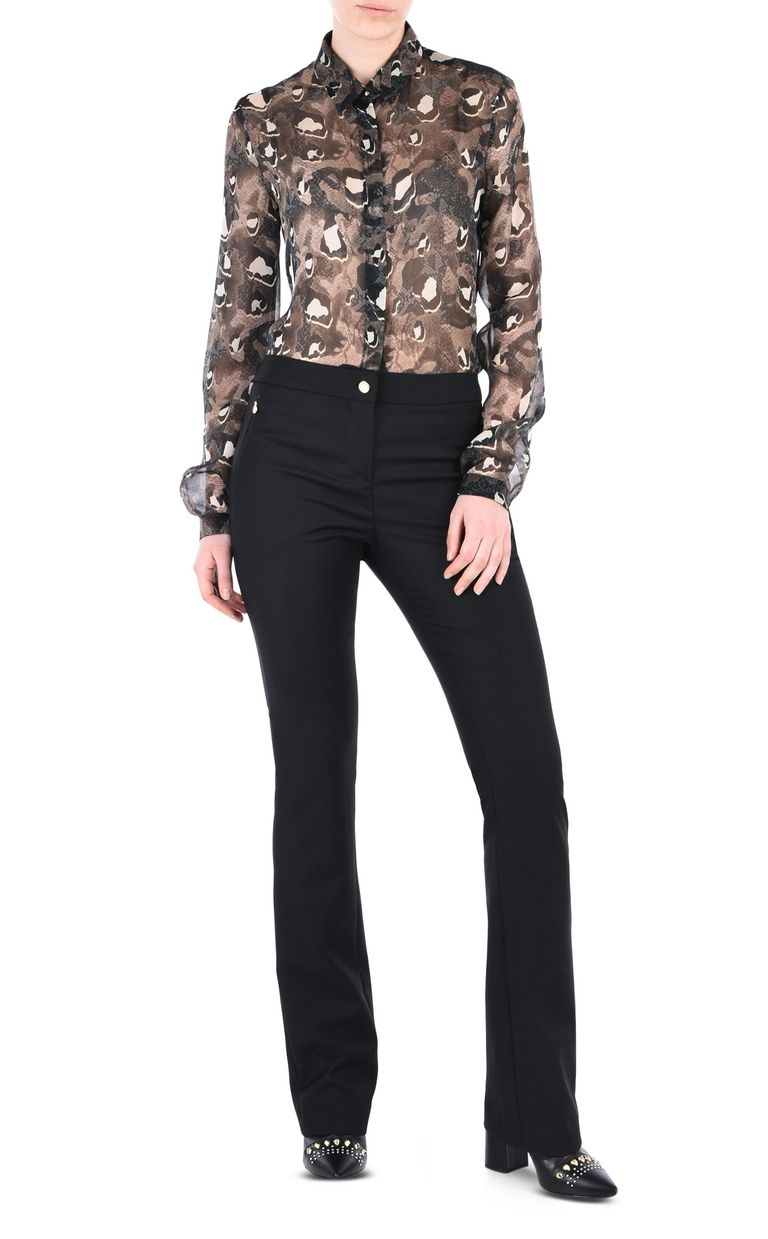 JUST CAVALLI Black flared trousers Casual pants [*** pickupInStoreShipping_info ***] r