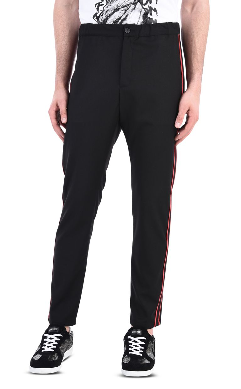 JUST CAVALLI Track trousers with contrast stripe Casual pants [*** pickupInStoreShippingNotGuaranteed_info ***] f