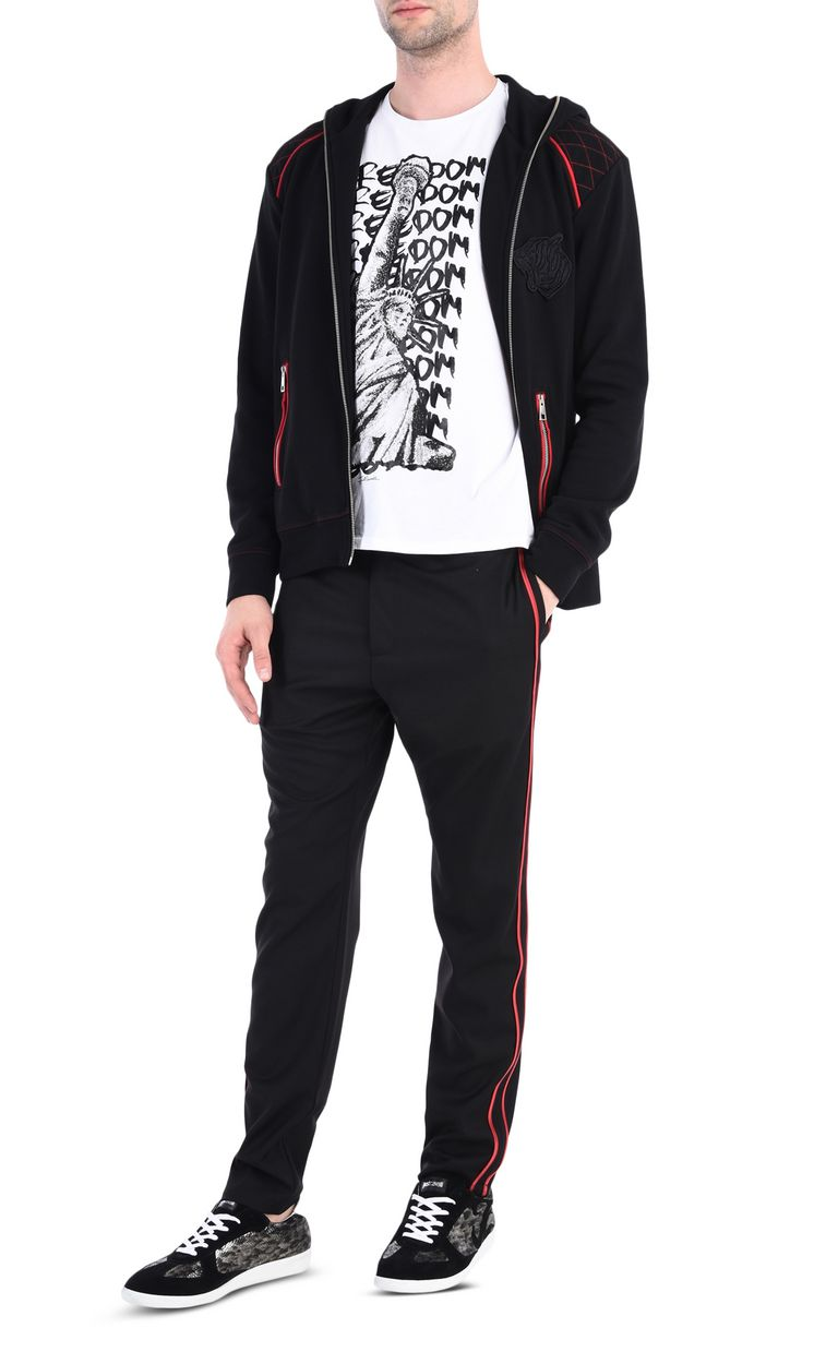 JUST CAVALLI Track trousers with contrast stripe Casual pants [*** pickupInStoreShippingNotGuaranteed_info ***] r